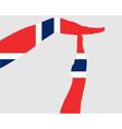 Norwegian timeout vector image