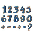 Numeric figures and mathematical operations vector image