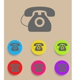 Old phone icons with color variations