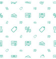 promotion icons pattern seamless white background vector image vector image