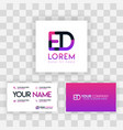 purple modern creative clean business card vector image vector image