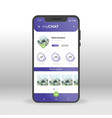 purple my chat ui ux gui screen for mobile apps vector image vector image