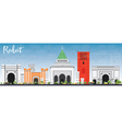 Rabat Skyline with Gray Buildings vector image vector image