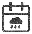 Rainy Day Grainy Texture Icon vector image vector image