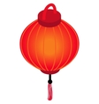 Red chinese lantern icon isometric 3d style vector image vector image