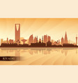 riyadh city skyline silhouette background vector image vector image