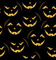 scary jack-o-lantern pattern vector image vector image