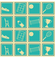 Seamless pattern with tennis icons vector image vector image