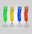 set of abstract colorful ribbons infographic desi vector image