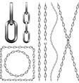 Set of metal chain vector image vector image