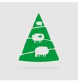 sheep and christmas tree vector image vector image