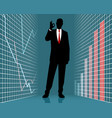 silhouette of a successful businessman vector image