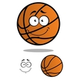 Smiling basketball ball cartoon mascot vector image vector image