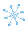 snowflake freeze winter blue icon graphic vector image vector image