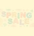 Spring sale lettering design
