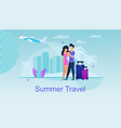 summer travel journey destinations for two vector image