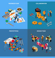 teamwork collaboration concept icons set vector image