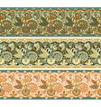 three colored ornamental seamless pattern stripe vector image vector image