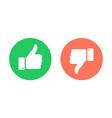 thumbs up down emblems like dislike icons vector image vector image