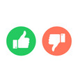 thumbs up thumbs down emblems like dislike icons vector image vector image