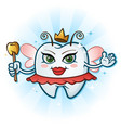 tooth fairy cartoon character with antenna wand vector image vector image