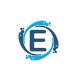 water clean service abbreviation letter e vector image vector image