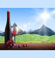wine realistic background vector image vector image