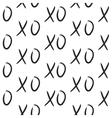 XOXO hugs and kisses seamless pattern vector image vector image