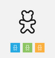 of family symbol on teddy bear vector image
