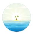 View of The Tropic Island from the Field Glass vector image