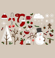 christmas icons for decorations vector image