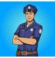 Policeman pop art style vector image