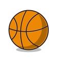 Basketball ball isolated on white vector image