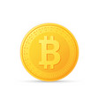 bitcoin icon is a golden color crypto currency vector image vector image
