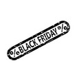 black friday rubber stamp isolated on white vector image vector image