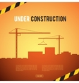 Building under Construction site vector image vector image