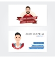 Business cards design of a lumberjack and vector image vector image