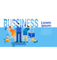 business concept successful strategy planning vector image vector image