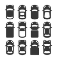 Car Top View Icons Set vector image vector image