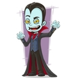 Cartoon scary vampire with canines vector image vector image