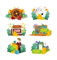 Casino Gambling Icons Set vector image vector image