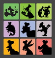Chef Silhouette Symbols vector image