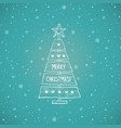 christmas tree made sawn wood board christmas vector image vector image