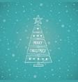christmas tree made sawn wood board vector image vector image