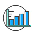 data stream icon with diagram sign vector image