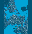 detailed map auckland city linear print map