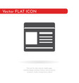 document icon for web business finance and vector image