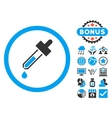 Dropper Flat Icon with Bonus vector image vector image