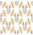 easter bunny rabbit cartoon seamless vector image vector image