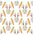 easter bunny rabbit cartoon seamless vector image vector image